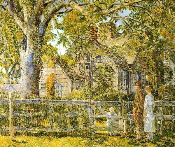 Old Mumford House, Easthampton Oil Painting - Frederick Childe Hassam