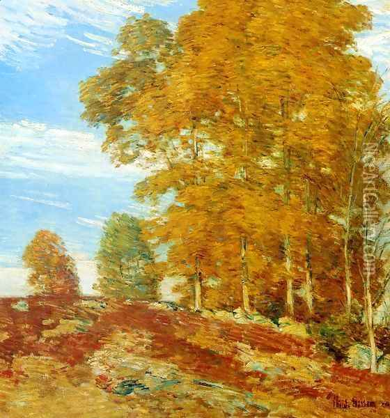 Autumn Hilltop, New England Oil Painting - Frederick Childe Hassam