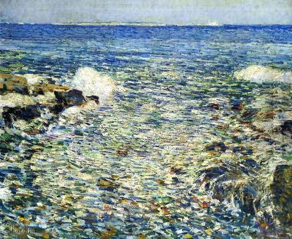 Surf, Isles of Shoals Oil Painting - Frederick Childe Hassam