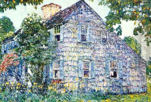 Old House, East Hampton Oil Painting - Frederick Childe Hassam