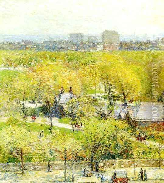 Across the Park Oil Painting - Frederick Childe Hassam