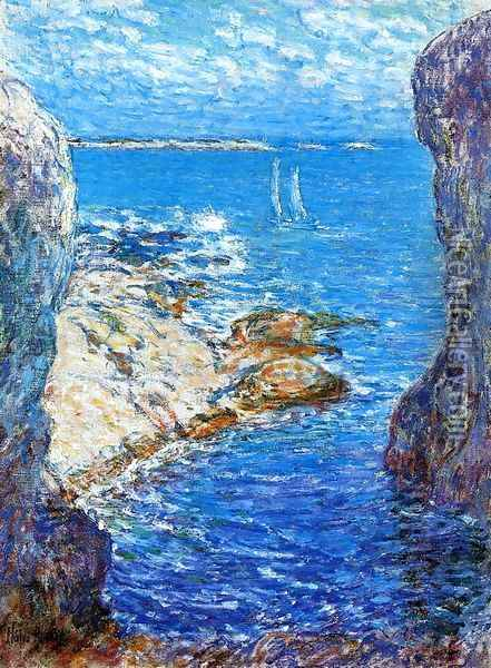 An Isles of Shoals Day Oil Painting - Frederick Childe Hassam