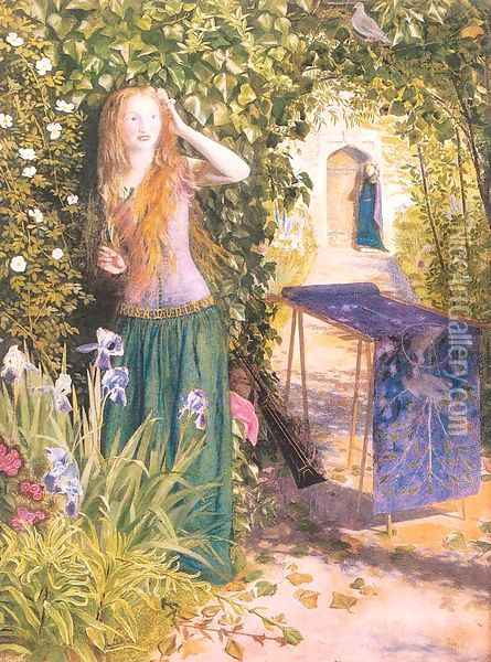 Fair Rosamund 1854 Oil Painting - Arthur Hughes