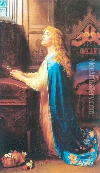 Forget Me Not 1901-02 Oil Painting - Arthur Hughes