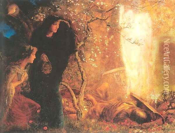 He is Risen- The First Easter 1893-96 Oil Painting - Arthur Hughes