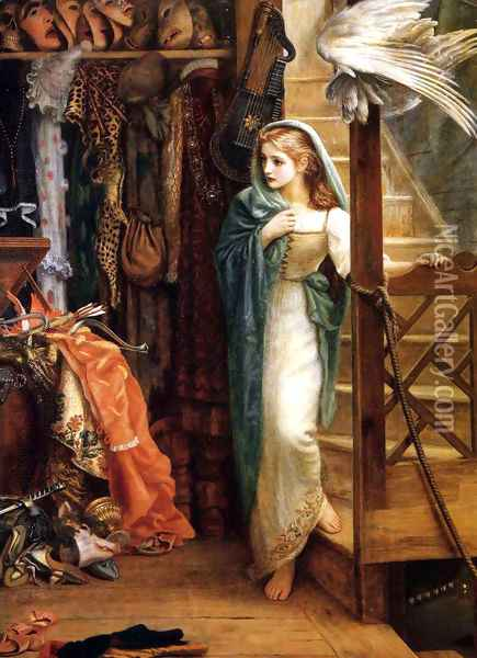 The Property Room Oil Painting - Arthur Hughes