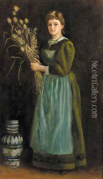 Lucy Hill Oil Painting - Arthur Hughes