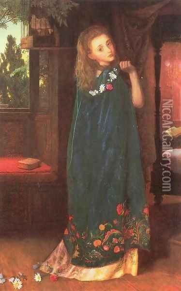 Good Night (later version) Oil Painting - Arthur Hughes