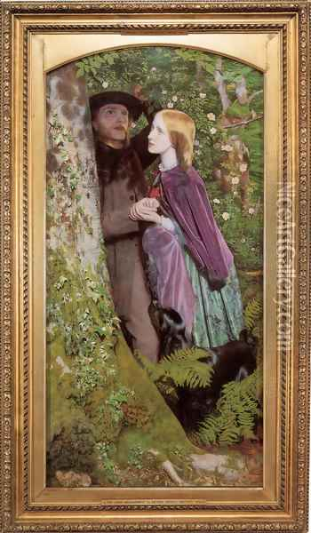 The Long Engagement 1853-55 Oil Painting - Arthur Hughes