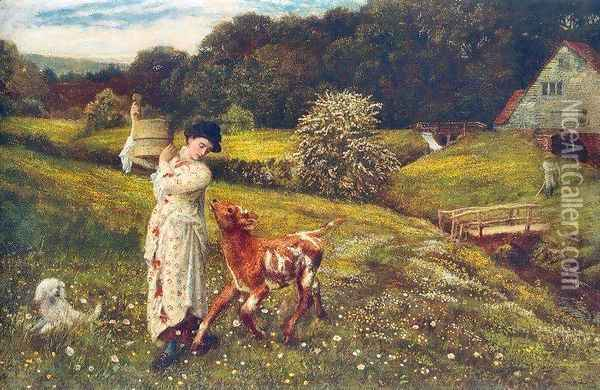 Returning Home Oil Painting - Arthur Hughes
