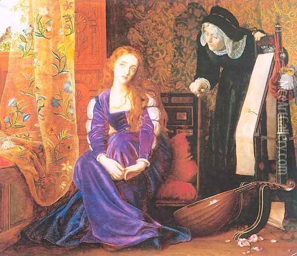 The Pained Heart (aka 'Sigh no more, ladies, sigh no more') Oil Painting - Arthur Hughes