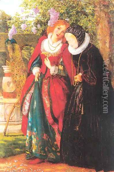 Silver and Gold 1862-64 Oil Painting - Arthur Hughes