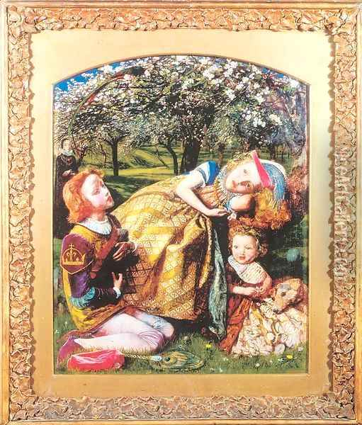 The King's Orchard 1857-58, retouched in 1859 Oil Painting - Arthur Hughes