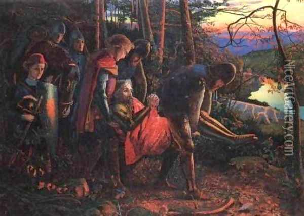 The Knight of the Sun (reduced version) Oil Painting - Arthur Hughes