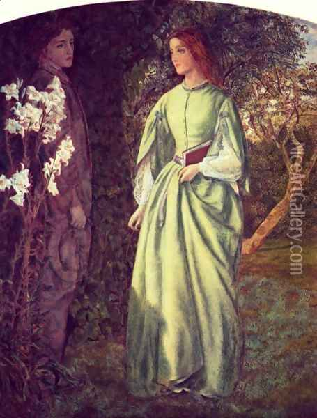 The rendezvous Oil Painting - Arthur Hughes