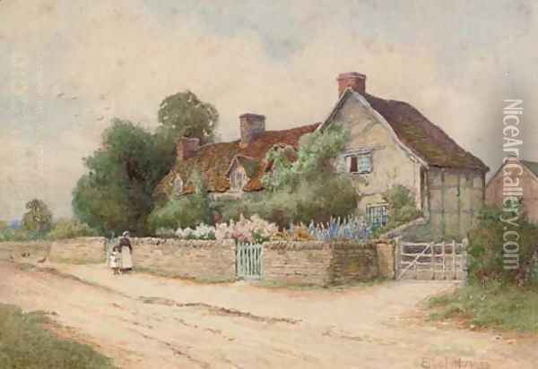 Mary Arden's cottage Oil Painting - Arthur Hughes