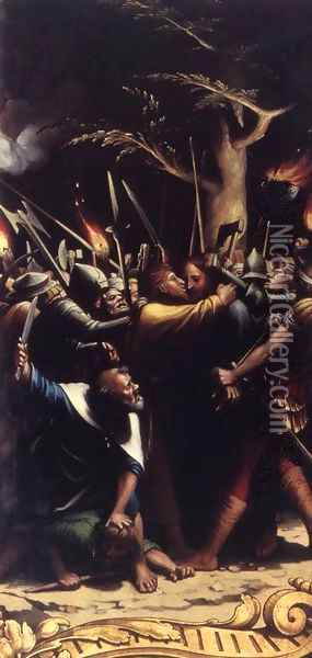 The Passion (detail 2) 1524-25 Oil Painting - Hans Holbein the Younger