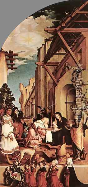 The Oberried Altarpiece (left wing) 1521-22 Oil Painting - Hans Holbein the Younger