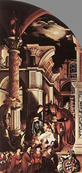 The Oberried Altarpiece (right wing) 1521-22 Oil Painting - Hans Holbein the Younger