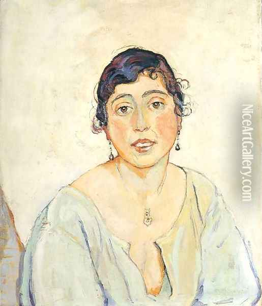 Portrait of a Woman Oil Painting - Ferdinand Hodler