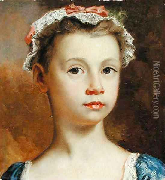 Sketch of a Young Girl Oil Painting - Joseph Highmore