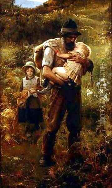 A Heavy Burden Oil Painting - Arthur Hacker