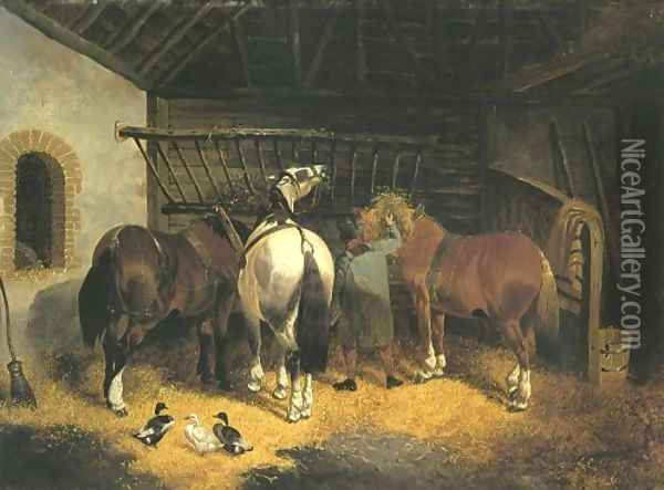 The End Of The Day 2 Oil Painting - John Frederick Herring Snr