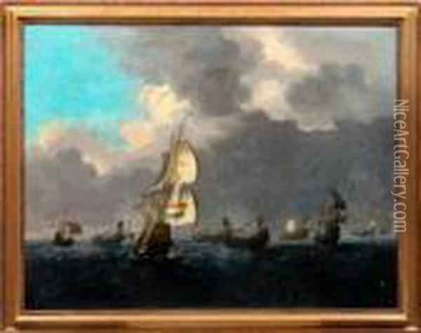Hollandia Oil Painting - Ludolf Backhuysen