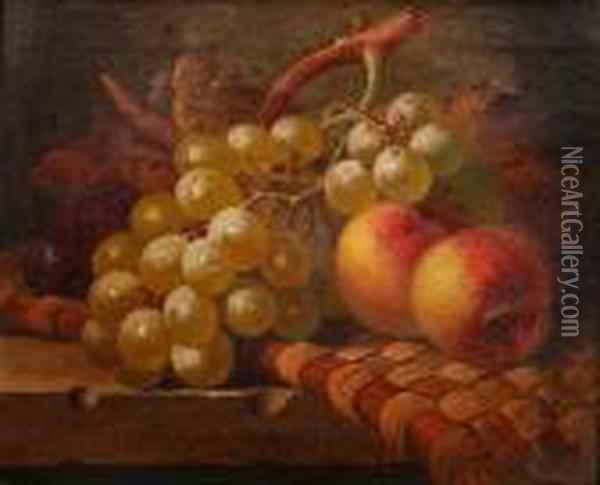 Still Life Of Fruit Oil Painting - Charles Thomas Bale