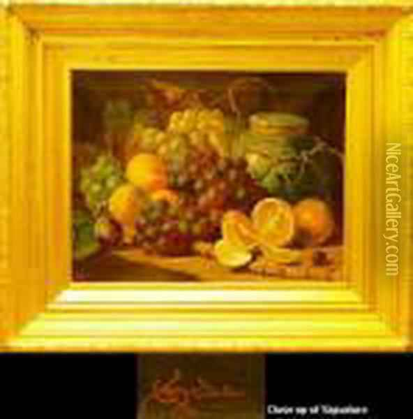 Still Life With Oranges And Otherfruit Oil Painting - Charles Thomas Bale
