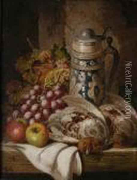 Still Life With Game Oil Painting - Charles Thomas Bale