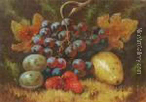 Still Lifes With Fruit Oil Painting - Charles Thomas Bale