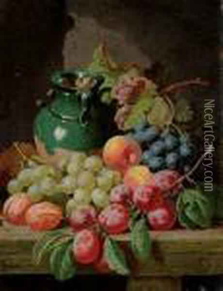Nature Morte Aux Fruits Oil Painting - Charles Thomas Bale