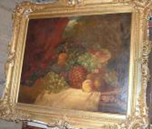 Still Life Offruit Oil Painting - Charles Thomas Bale