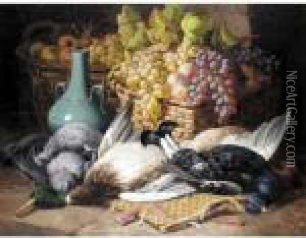 Fruit And Game Oil Painting - Charles Thomas Bale