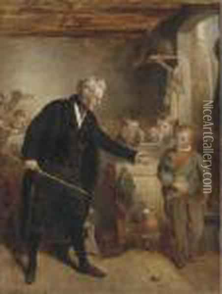 Confiscation Oil Painting - Charles Thomas Bale