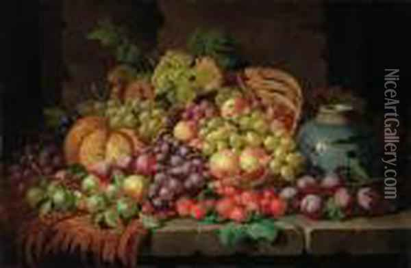 A Basket Of Grapes, Plums, 