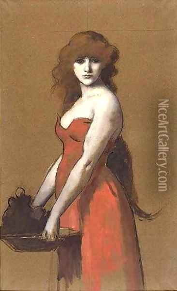 Herodiade Oil Painting - Jean-Jacques Henner