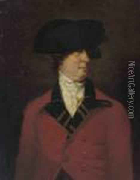 Portrait Of A Gentleman,  Traditionally Identified As Williamaddington (1728-1811), Half-length,  In The Uniform Of Thewestminster Volunteers Oil Painting - Sir William Beechey