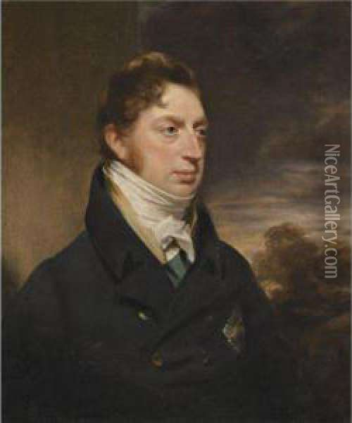 Portrait Of Charles Brudenell-bruce Oil Painting - Sir William Beechey