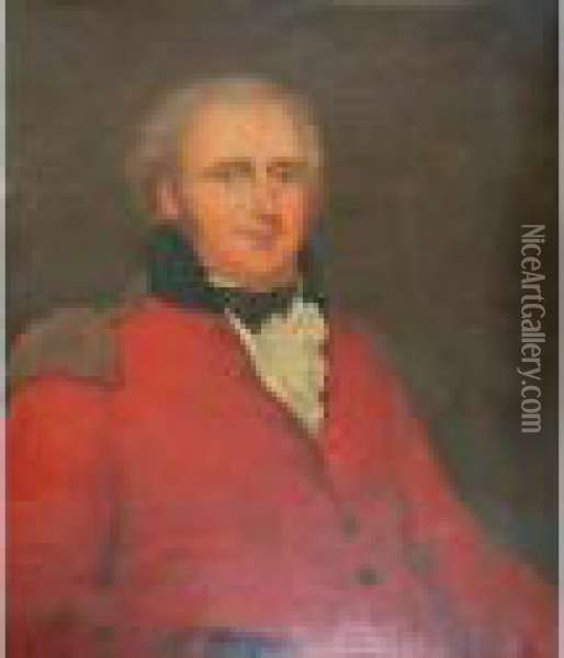 Portrait Of An Officer Oil Painting - Sir William Beechey