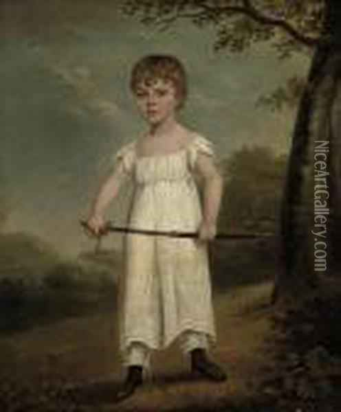 Portrait Of A Young Boy Oil Painting - Sir William Beechey