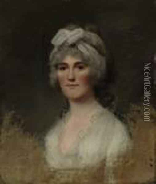 Portrait Of Mrs. Coppell Oil Painting - Sir William Beechey