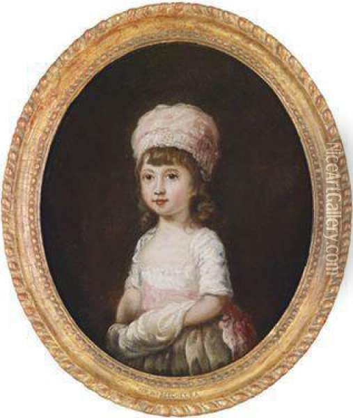 Portrat Eines Jungen Madchens Oil Painting - Sir William Beechey