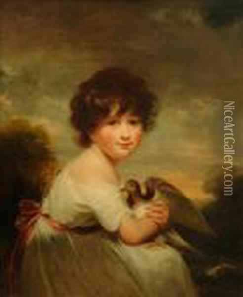 Portrait Of Mary Ann Hutton Oil Painting - Sir William Beechey