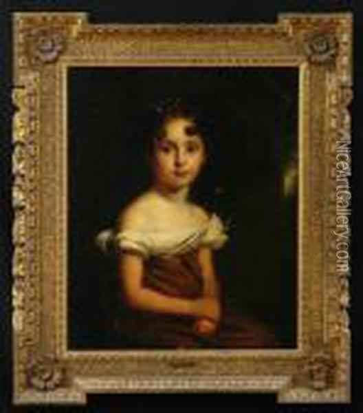 Portrait Of A Young Girl Oil Painting - Sir William Beechey