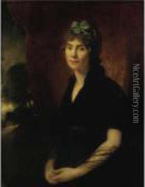 Portrait Of A Young Lady Oil Painting - Sir William Beechey