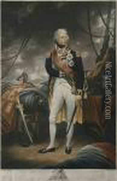 Portrait Of Horatio, Lord Viscount Nelson, Duke Of Bronte, Kb. Oil Painting - Sir William Beechey