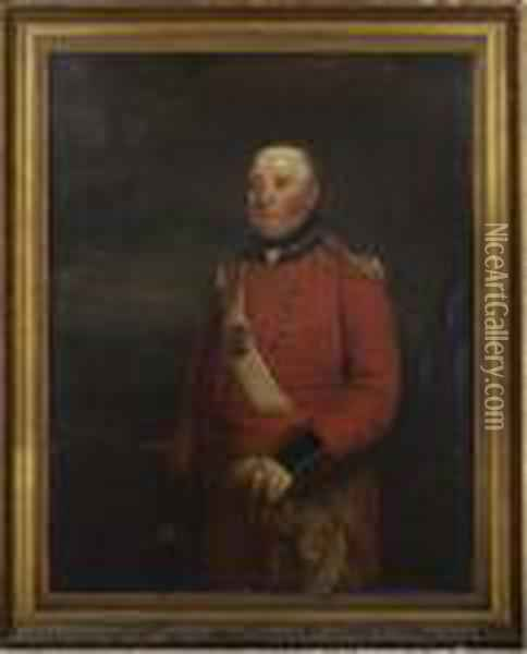 Portrait Of A Field Officer Oil Painting - Sir William Beechey