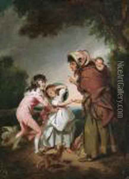 The Fortuneteller Oil Painting - Sir William Beechey